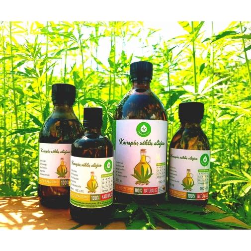 CannaMama óleo de semente de cânhamo não refinado e prensado a frio 250 ml