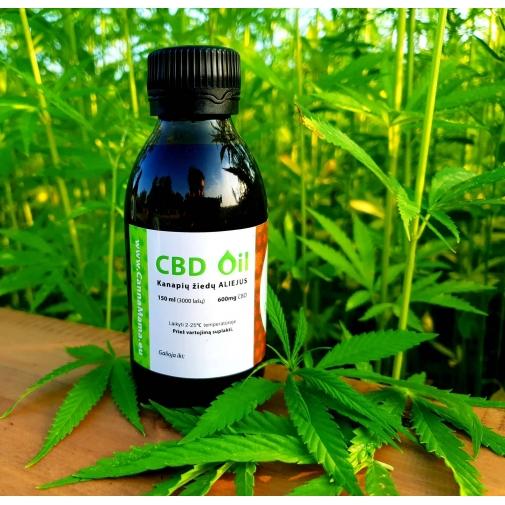 CannaMama viso spektro CBD aliejus 150 ml (600 mg)