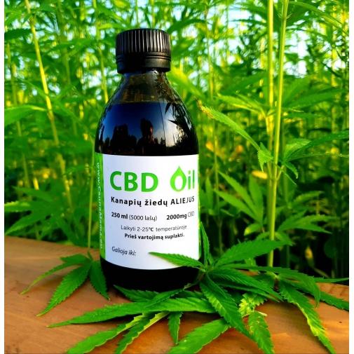 CannaMama Vollspektrum-CBD-Öl 250 ml (1000 mg)