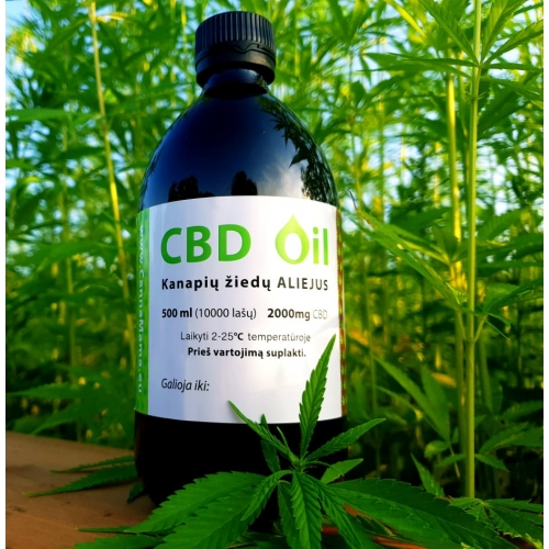 CannaMama Óleo de CBD de espectro total 500 ml (2000mg)