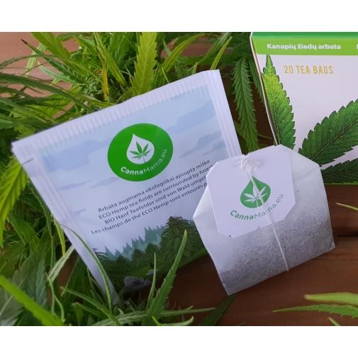 CannaMama Chá de cânhamo orgânico selecionado 1 x 1g
