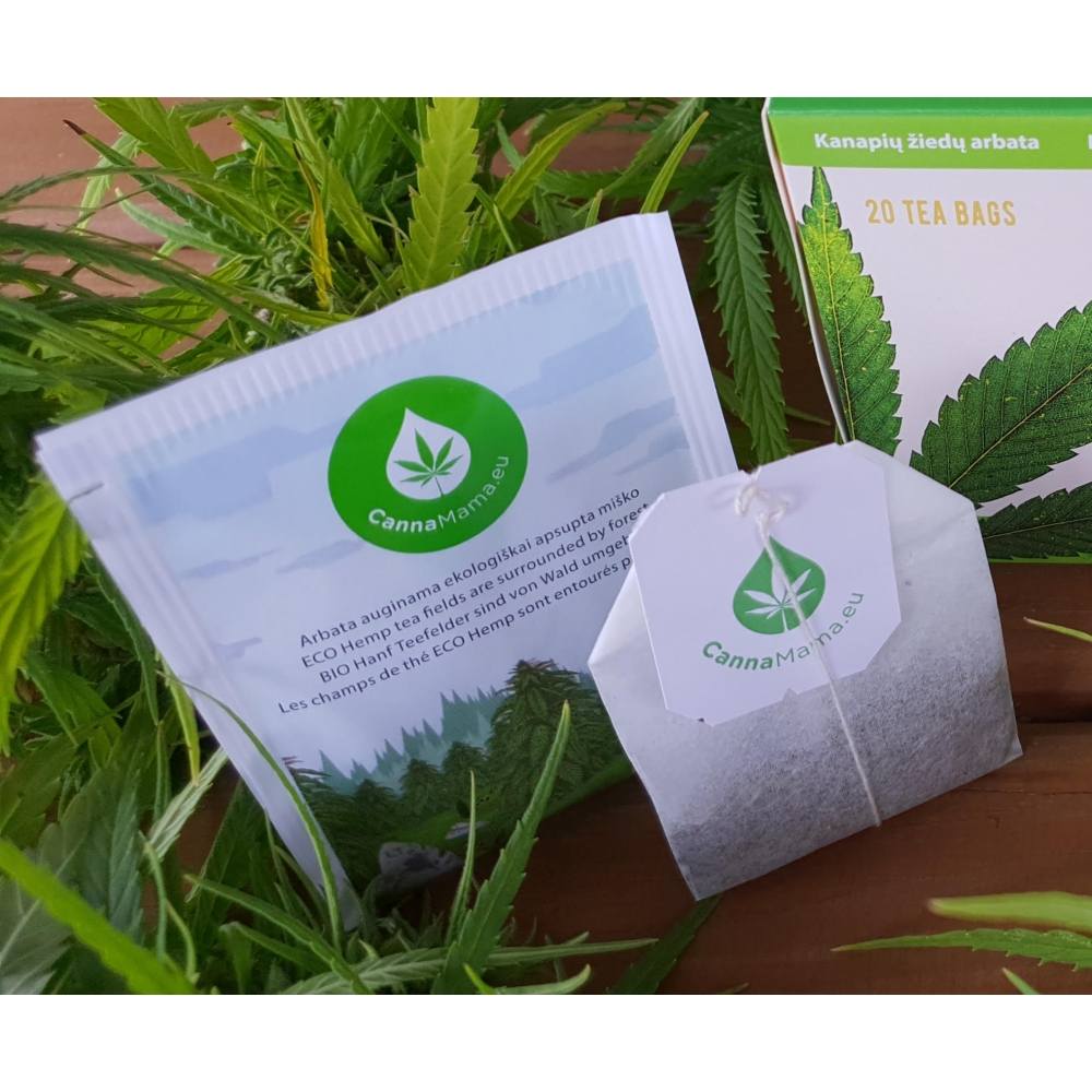 CannaMama Selected Organic Hemp Flower Buds Tea Bags