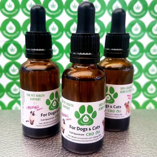CBD Oil dla psów i kotów 30 ml 125 mg