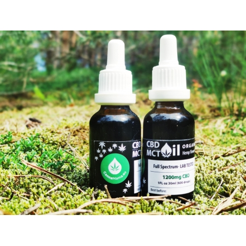 CannaMama Organic Full Spectrum CBD/MCT Oil 30ml (1Fl oz) 1200mg