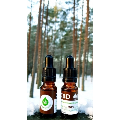 CannaMama 10ml Olio di Canapa 20% cbd oil Estratto Full Spectrum NATURALE 100%