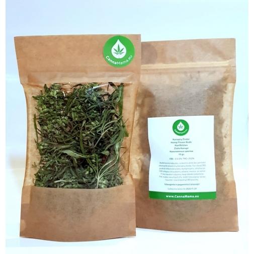 CannaMama Chá orgânico da flor do cânhamo 50 g / 1.76 oz