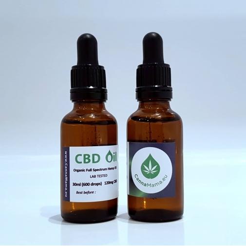 CannaMama huile de chanvre à spectre complet (huile de CBD) 30 ml (120mg)