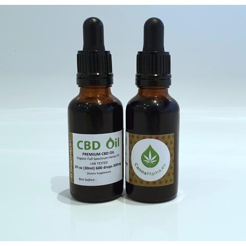CannaMama organiczny olej CBD o pełnym spektrum działania 30 ml 300 mg