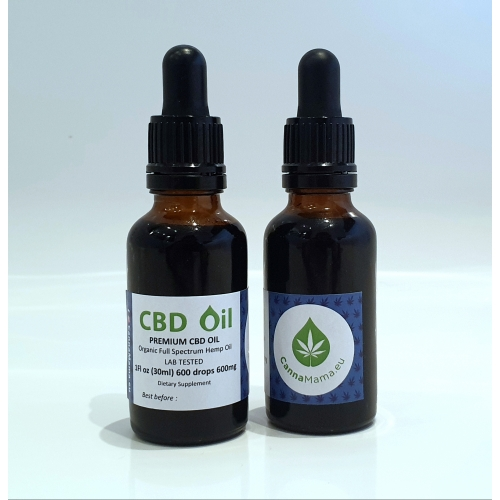 CannaMama Organic Full Spectrum CBD Oil 30ml (1Fl oz) 600mg