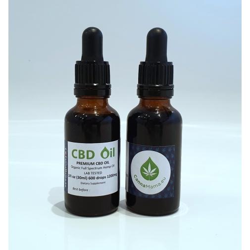 CannaMama organiczny olej CBD o pełnym spektrum działania 30 ml 1200 mg