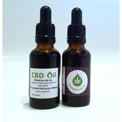 CannaMama Organic Full Spectrum CBD Oil 30ml (1Fl oz) 5000mg